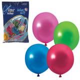 """Шары воздушные 10"""" (25 см), комплект 100 шт., 12 цветов металлик, в пакете, 1101-0001"""