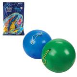 """Шары воздушные 16"""" (41 см), комплект 25 шт., панч-болл (шар-игрушка с резинкой), 12 цветов, 8 рисунков, пакет, 1104-0010"""