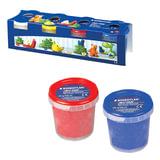 Пластилин на растительной основе (тесто для лепки) STAEDTLER, 4 цвета, 520 г, (белый, желтый, красный, синий), 8134 01