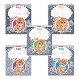 """Тетрадь 12 л., ERICH KRAUSE, клетка, мелованный картон обложка, """"Cute Cat"""", 42559"""