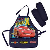 Фартук для труда и занятий творчеством ТАЧКИ (Cars) с нарукавниками, для учеников начальной школы, CRCB-RT2-2900