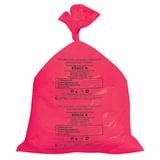 Мешки для мусора медицинские КОМПЛЕКТ 50 шт., класс В (красные), 30 л, 50х60 см, 14 мкм, АКВИКОМП