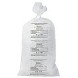Мешки для мусора медицинские КОМПЛЕКТ 20 шт., класс А (белые), 100 л, 60х100 см, 14 мкм, АКВИКОМП
