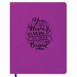 """Дневник 1-11 класс 48 л., обложка кожзам (гибкая), принт, BRAUBERG """"DAZZLE"""", фиолетовый, 105456"""