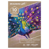 Альбом для пастели, картон СЕРЫЙ некрашенный 630 г/м<sup>2</sup>, 207х297 мм, 10 л., BRAUBERG ART CLASSIC, 105916