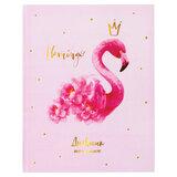 """Дневник 1-4 класс, 48 л., твердый, ЮНЛАНДИЯ, глянцевая ламинация, с подсказом, """"Фламинго"""", 106021"""