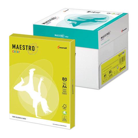 Бумага MAESTRO color А4, 80 г/м<sup>2</sup>, 500 л., неоново-желтая NEOGB