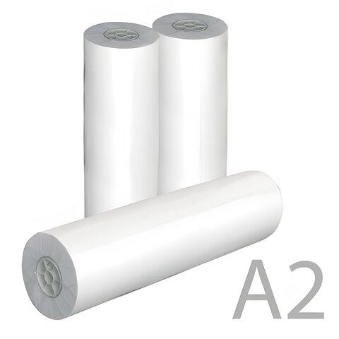 Рулон для плоттера, 420 мм х 175 м х втулка 76 мм, 80 г/м2, белизна CIE 162%, диаметр 170 мм, STARLESS, 420x76x175 0350