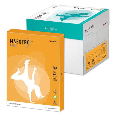 """Бумага MAESTRO color А4, 80 г/м<sup>2</sup>, 500 л., умеренно-интенсивная (тренд), """"старое золото"""" AG10"""