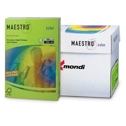 Бумага MAESTRO color А4, 160 г/м<sup>2</sup>, 250 л., интенсивно-зеленая MA42