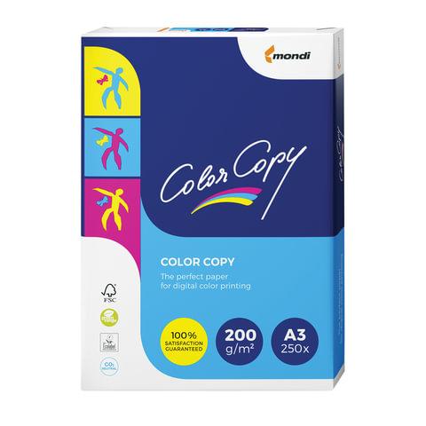 Бумага COLOR COPY, А3, 200 г/м<sup>2</sup>, 250 л., для полноцветной лазерной печати, А++, Австрия, 161% (CIE), A3-7158