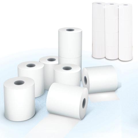 Рулоны для кассовых аппаратов, термобумага, 44х30х12 (24 м), комплект 12 шт., AKZENT