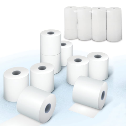 Рулоны для кассовых аппаратов, термобумага, 57х78х12 (78 м), комплект 12 шт., AKZENT