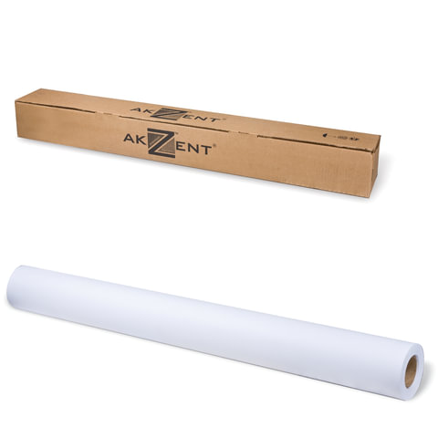 Рулон для плоттера, 914 мм х 30 м х втулка 50,8 мм, 120 г/м<sup>2</sup>, белизна CIE 161%, Color Coated AKZENT
