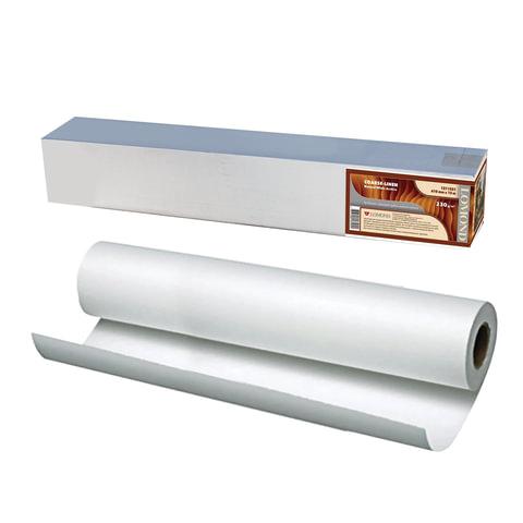 Рулон для плоттера (холст), 610 мм х 12,3 м х втулка 76 мм, 230 г/м<sup>2</sup>, натуральный белый, фактура льняная, LOMOND, 1211321