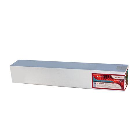 Рулон для плоттера (арт-бумага), 610 мм х 12,3 м х втулка 76 мм, 210 г/м<sup>2</sup>, натуральный белый, фактура льняная, LOMOND, 1211310