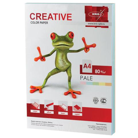 Бумага CREATIVE color (Креатив), А4, 80 г/м<sup>2</sup>, 250 л. (5 цв. х 50 л.), цветная пастель, БПpr-250r