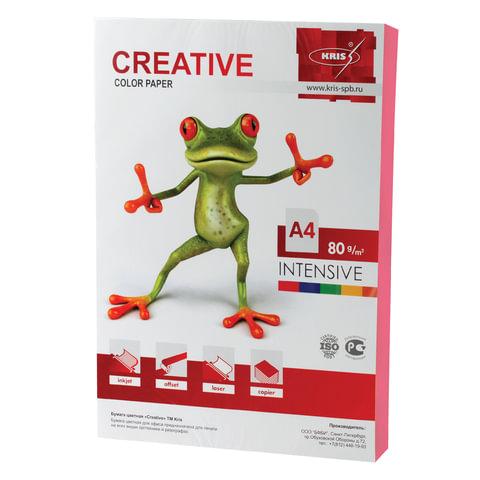 Бумага CREATIVE color (Креатив), А4, 80 г/м<sup>2</sup>, 100 л., интенсив розовая, БИpr-100р