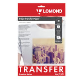 Бумага термотрансферная LOMOND для светлых тканей, А4, 50 шт., 140 г/м<sup>2</sup>, 0808415