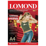 Бумага термотрансферная LOMOND флуоресцентная, А4, 10 шт., 140 г/м<sup>2</sup>, 0808431
