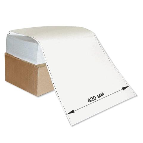 Бумага с неотрывной перфорацией, 420х305 (12&quot;) х 1500 л., плотность 65 г/м<sup>2</sup>, белизна 98%, 350059