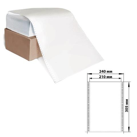 """Бумага с отрывной перфорацией, 240х305 (12"""") х 1500 л., плотность 60 г/м<sup>2</sup>, белизна 93%, 350028"""