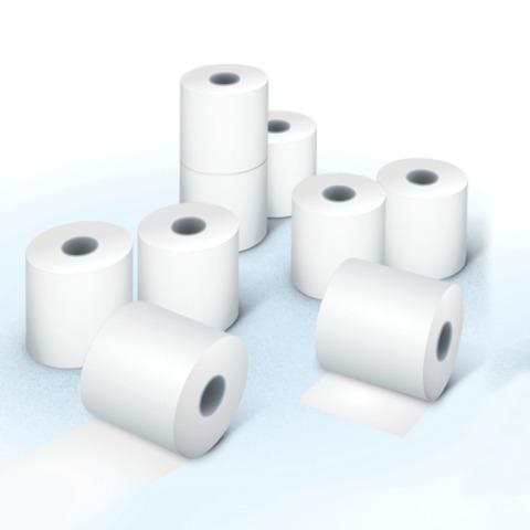 Рулоны для кассовых аппаратов, термобумага, 57х80х12 (80 м), комплект 8 шт., гарантия намотки, BRAUBERG, 110550