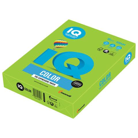 Бумага IQ color, А4, 80 г/м<sup>2</sup>, 500 л., интенсив ярко-зеленая MA42