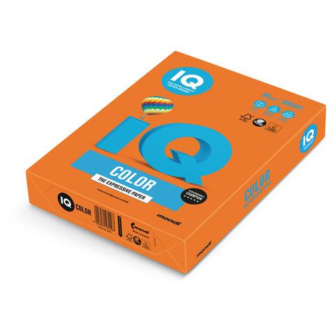 Бумага IQ color, А4, 80 г/м<sup>2</sup>, 500 л., интенсив оранжевая OR43