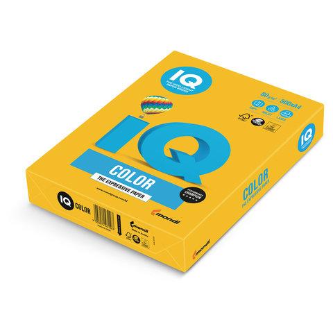 Бумага IQ color, А4, 80 г/м<sup>2</sup>, 500 л., интенсив солнечно-желтая SY40