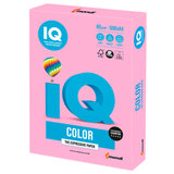 Бумага цветная IQ color, А4, 80 г/м<sup>2</sup>, 500 л., неон, розовая, NEOPI