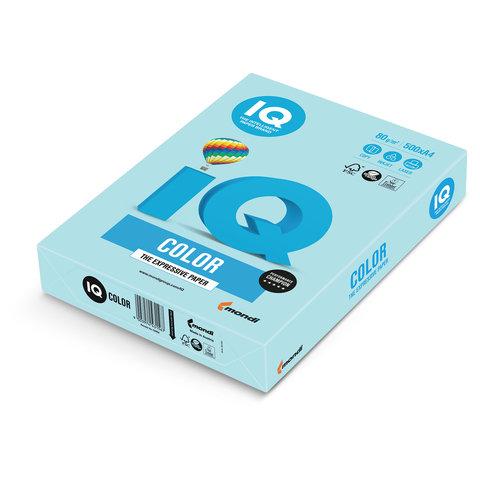 Бумага IQ color, А4, 80 г/м<sup>2</sup>, 500 л., пастель голубая MB30