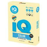 Бумага цветная IQ color, А4, 80 г/м<sup>2</sup>, 500 л., пастель, желтая, YE23