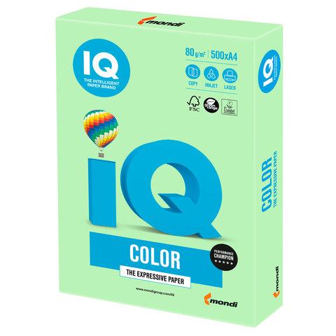 Бумага IQ color, А4, 80 г/м<sup>2</sup>, 500 л., пастель зеленая MG28