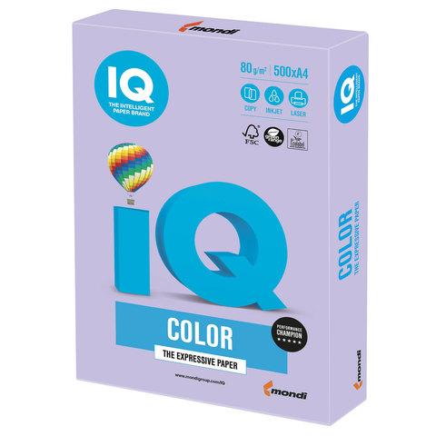 Бумага IQ color, А4, 80 г/м<sup>2</sup>, 500 л., умеренно-интенсив (тренд) бледно-лиловая LA12
