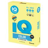 Бумага цветная IQ color, А4, 80 г/м<sup>2</sup>, 500 л., умеренно-интенсив, лимонно-желтая, ZG34
