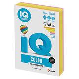 Бумага цветная IQ color, А4, 80 г/м<sup>2</sup>, 200 л., (4 цвета x 50 листов), микс неон, RB04