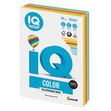 Бумага цветная IQ color, А4, 80 г/м<sup>2</sup>, 250 л., (5 цветов x 50 листов), микс интенсив, RB02
