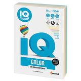 Бумага цветная IQ color, А4, 80 г/м<sup>2</sup>, 250 л., (5 цветов x 50 листов), микс пастель, RB01
