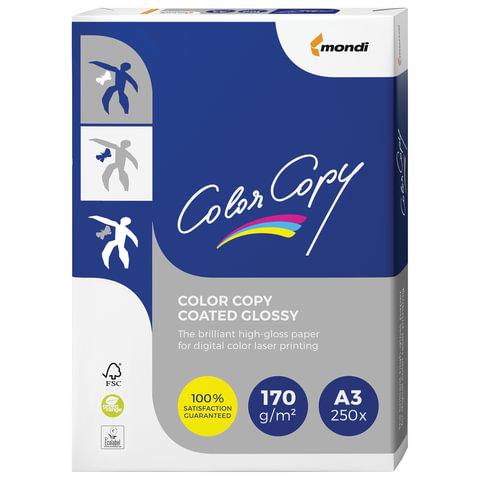 Бумага COLOR COPY GLOSSY, мелованная, глянцевая, А3, 170 г/м<sup>2</sup>, 250 л., для полноцветной лазерной печати, А++, Австрия, 138% (CIE)
