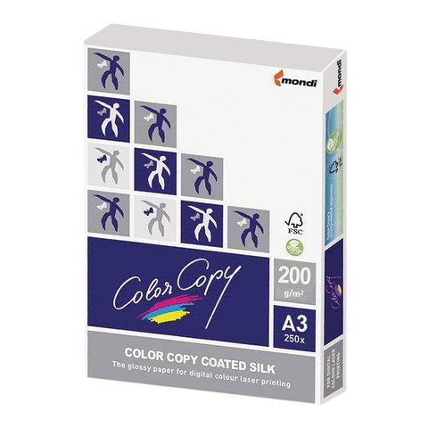 Бумага COLOR COPY SILK, мелованная, матовая, А3, 200 г/м<sup>2</sup>, 250 л., для полноцветной лазерной печати, А++, Австрия, 138% (CIE)