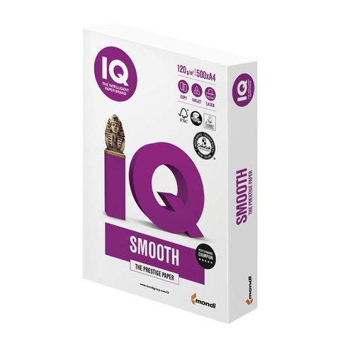 Бумага IQ SELECTION SMOOTH, А4, 120 г/м<sup>2</sup>, 500 л., для струйной и лазерной печати, А+, Австрия, 169% (CIE)