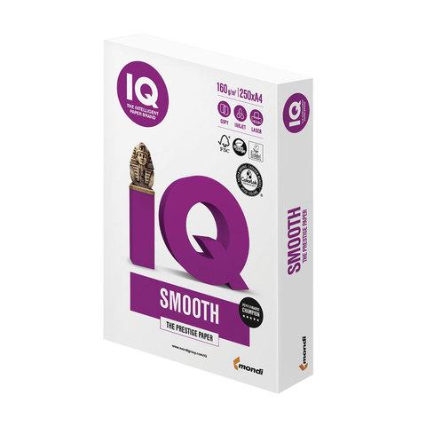 Бумага IQ SELECTION SMOOTH, А4, 160 г/м<sup>2</sup>, 250 л., класс &quot;А+&quot;, Австрия, белизна 170% (CIE)