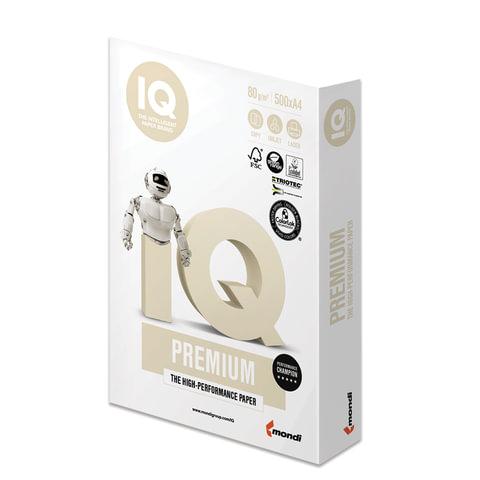 Бумага IQ PREMIUM, А4, 80 г/м<sup>2</sup>, 500 л., для струйной и лазерной печати, А+, Австрия, 169% (CIE)