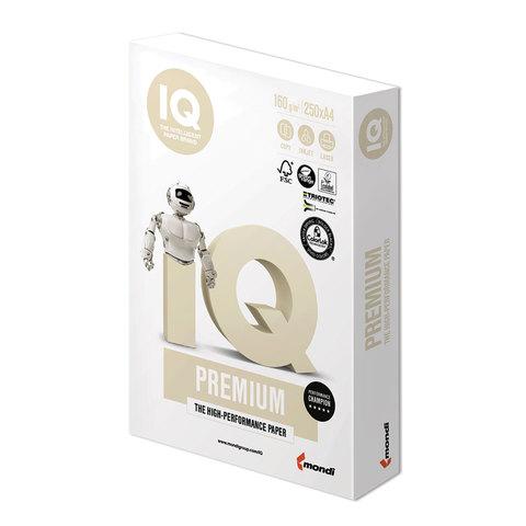 Бумага IQ PREMIUM, А4, 160 г/м<sup>2</sup>, 250 л., для струйной и лазерной печати, А+, Австрия, 169% (CIE)