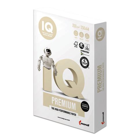 Бумага IQ PREMIUM, А4, 200 г/м<sup>2</sup>, 250 л., класс &quot;А+&quot;, Австрия, белизна 170% (CIE)