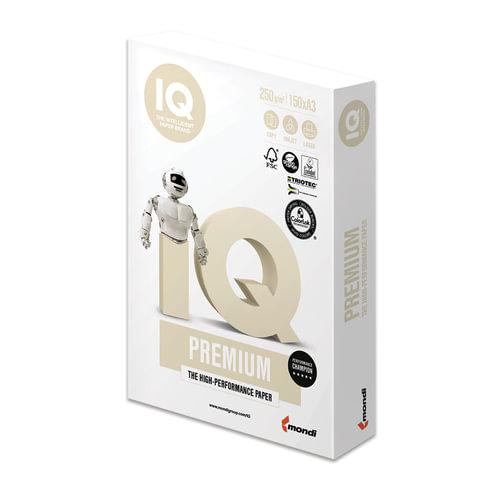 Бумага IQ PREMIUM, А3, 250 г/м<sup>2</sup>, 150 л., класс &quot;А+&quot;, Австрия, белизна 170% (CIE)