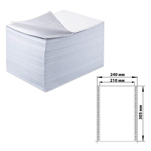"""Бумага самокопирующая с перфорацией белая, 240х305 мм (12""""), 5-и слойная, 350 комплектов, DRESCHER, 110760"""
