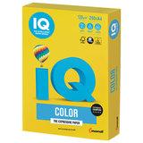 Бумага IQ color, А4, 120 г/м<sup>2</sup>, 250 л., интенсив, ярко-желтая, IG50