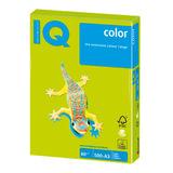 Бумага IQ color БОЛЬШОЙ ФОРМАТ (297х420 мм), А3, 80 г/м<sup>2</sup>, 500 л., неон, зеленая, NEOGN